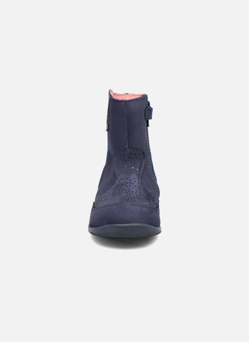 Bottes Kickers Bretzelle Bleu vue portées chaussures