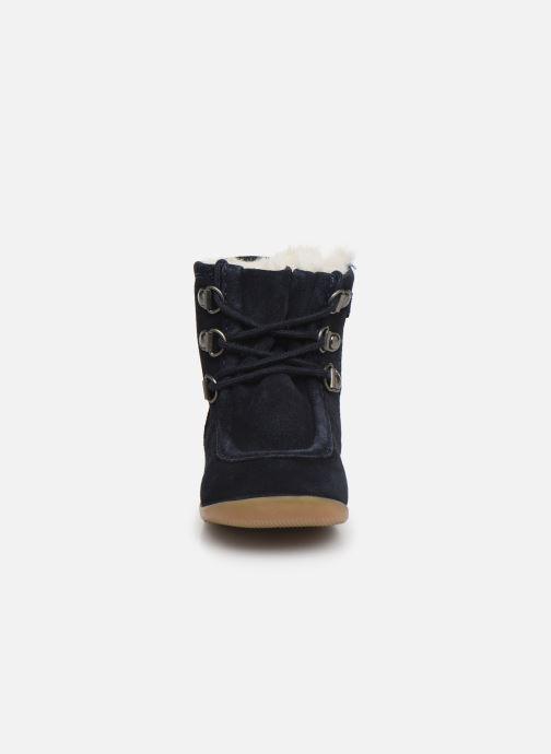 Bottines et boots Kickers Bamara Bleu vue portées chaussures