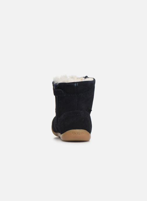 Bottines et boots Kickers Bamara Bleu vue droite