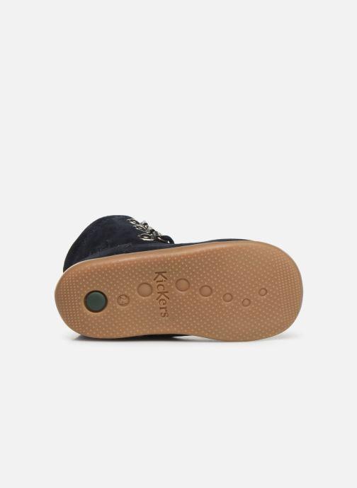 Bottines et boots Kickers Bamara Bleu vue haut
