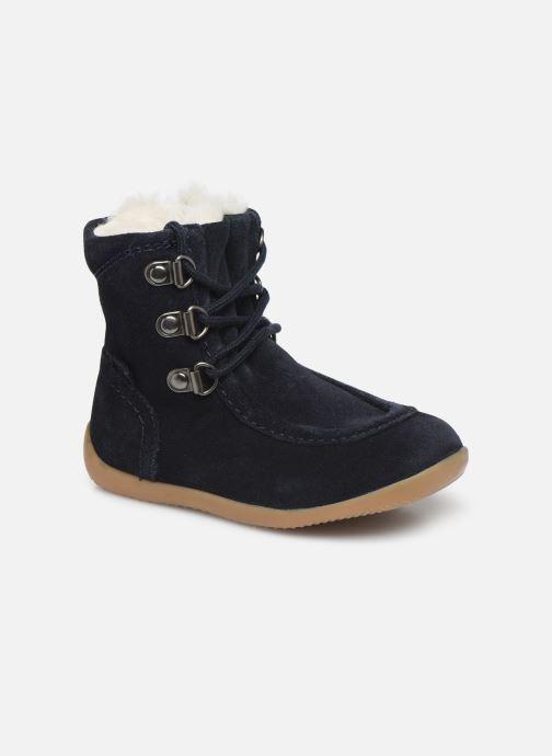 Bottines et boots Kickers Bamara Bleu vue détail/paire