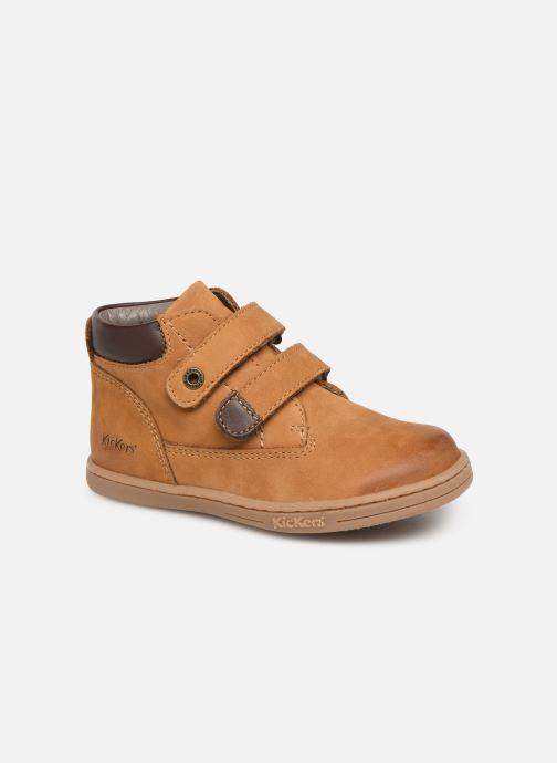 Bottines et boots Kickers Tackeasy Jaune vue détail/paire