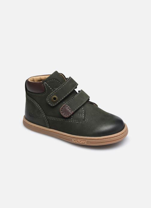 Bottines et boots Kickers Tackeasy Vert vue détail/paire