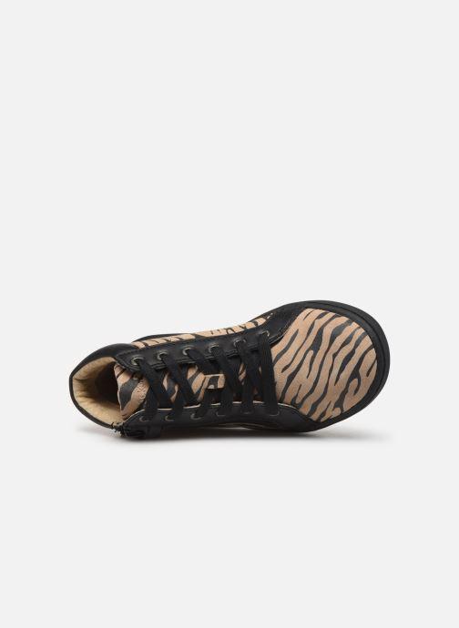 Sneakers Kickers Lyluby Zwart links
