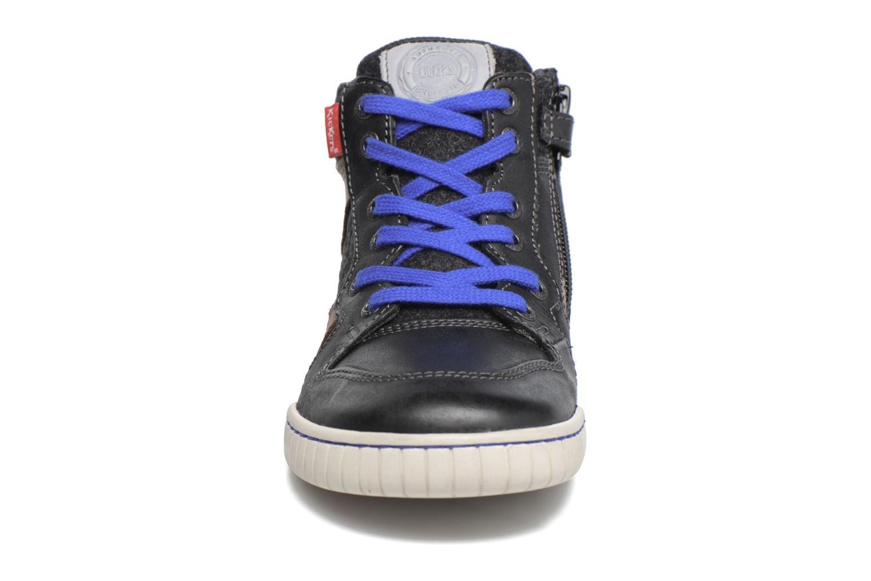 Baskets Kickers Wazabi Noir vue portées chaussures