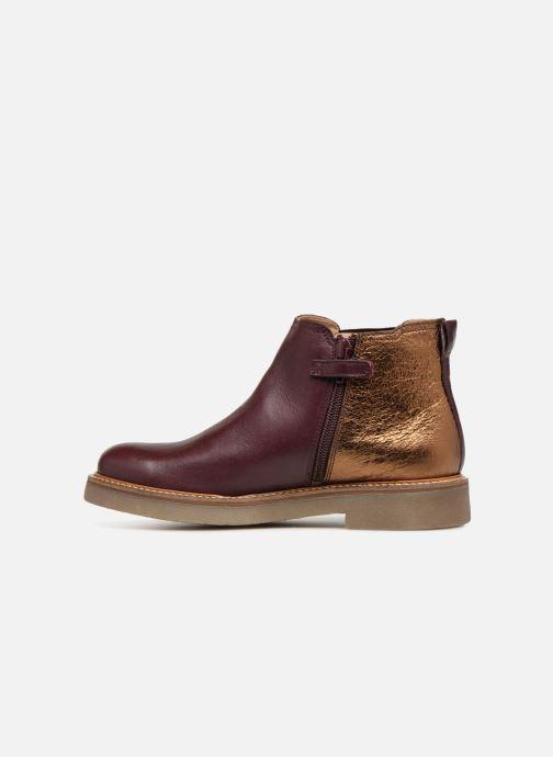 Bottines et boots Kickers Oxalide Bordeaux vue face