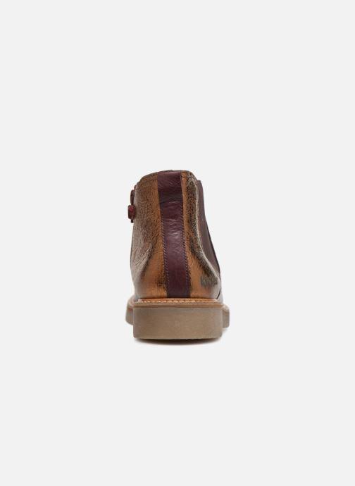 Bottines et boots Kickers Oxalide Bordeaux vue droite