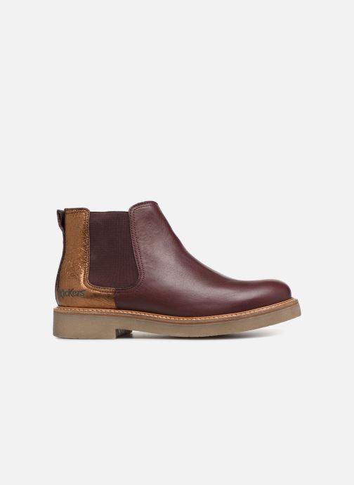 Bottines et boots Kickers Oxalide Bordeaux vue derrière