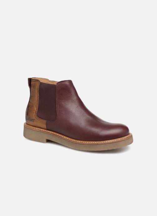 Bottines et boots Kickers Oxalide Bordeaux vue détail/paire