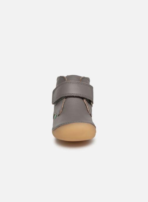 Bottines et boots Kickers Sabio Gris vue portées chaussures