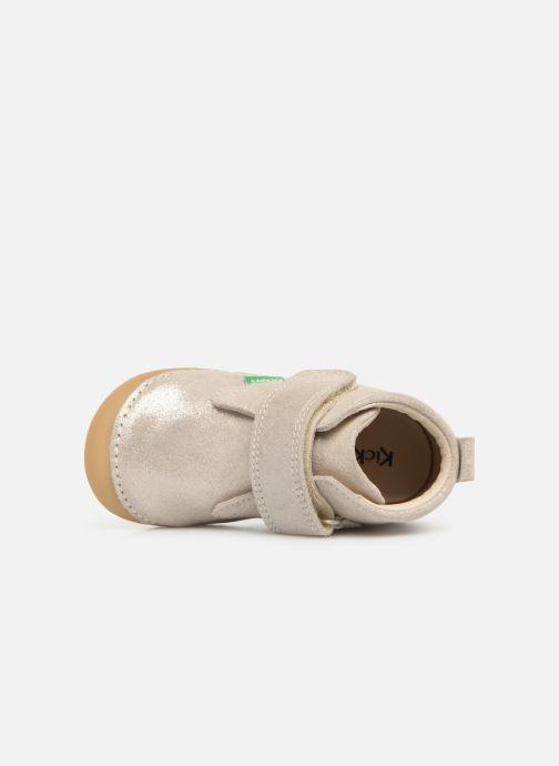 Boots en enkellaarsjes Kickers Sabio Zilver links