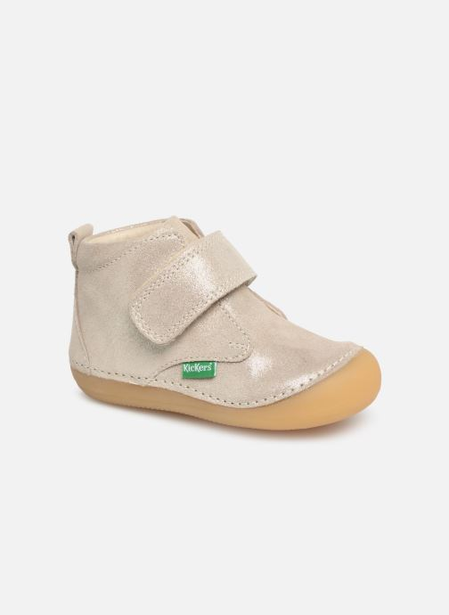 Boots en enkellaarsjes Kickers Sabio Zilver detail