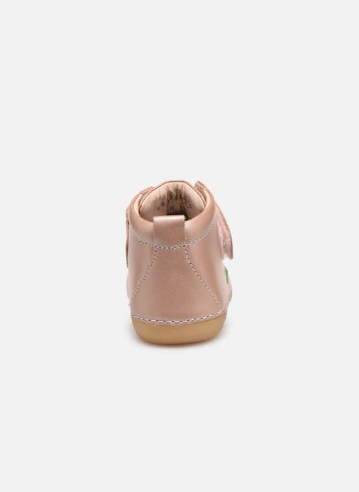 Ankelstøvler Kickers Sabio Pink Se fra højre