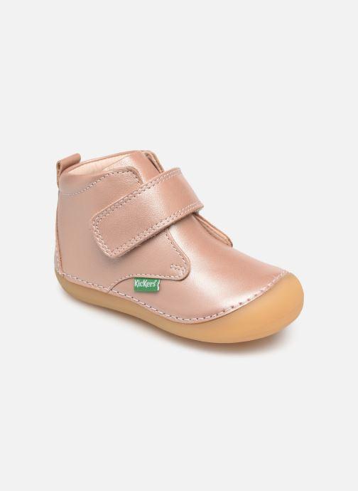 Ankelstøvler Kickers Sabio Pink detaljeret billede af skoene