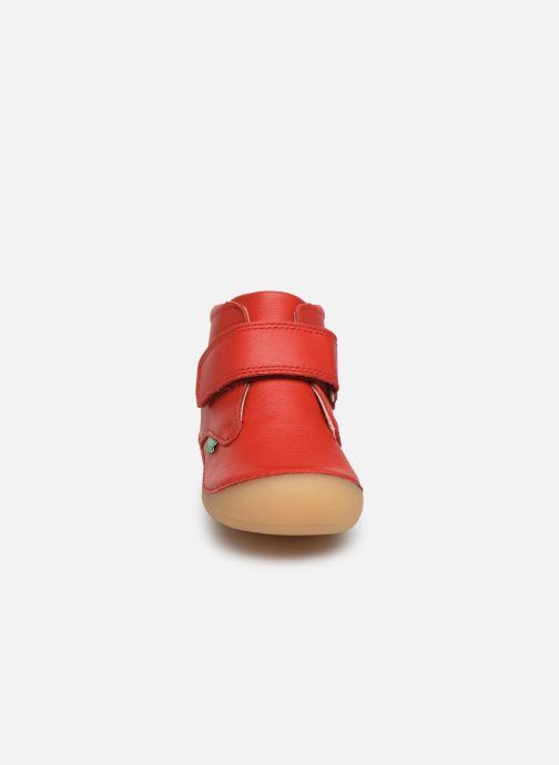 Botines  Kickers Sabio Rojo vista del modelo