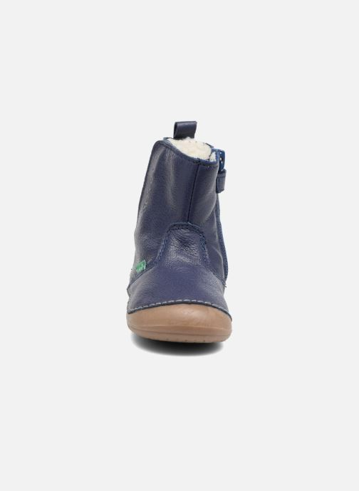 Stivali Kickers Socool Azzurro modello indossato