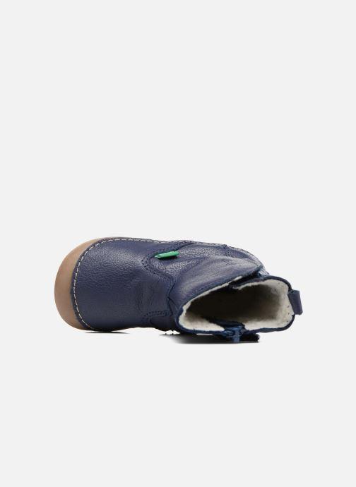Laarzen Kickers Socool Blauw links