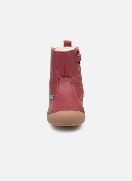 Bottes Kickers Socool Rose vue portées chaussures