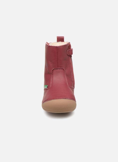 Stiefel Kickers Socool rosa schuhe getragen