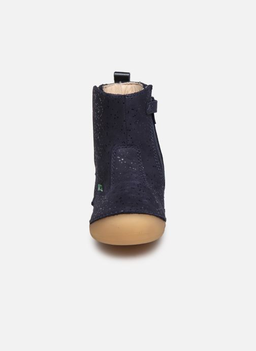 Bottes Kickers Socool Bleu vue portées chaussures