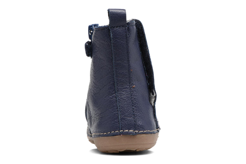 Stiefel Kickers Socool blau ansicht von rechts