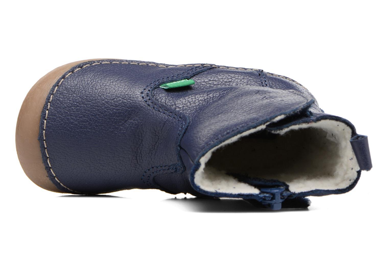 Stiefel Kickers Socool blau ansicht von links
