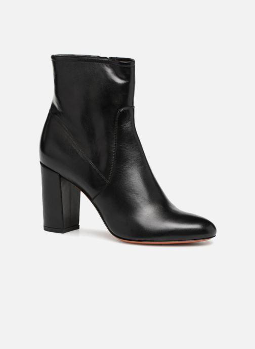 Ankle boots Santoni Venus 56323 Black detailed view/ Pair view