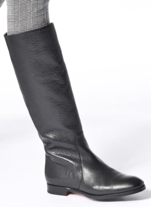 Boots & wellies Santoni New Marlene 5585 Black view from underneath / model view