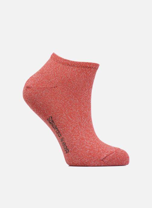 Chaussettes et collants Sarenza Wear Chaussettes Invisibles lurex Femme Coton Rouge vue détail/paire