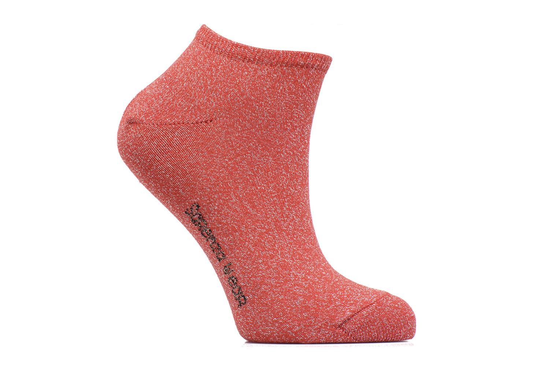 Chaussettes et collants Sarenza Wear Chaussettes Invisibles lurex Femme  Coton Rouge vue détail paire 273a61237217