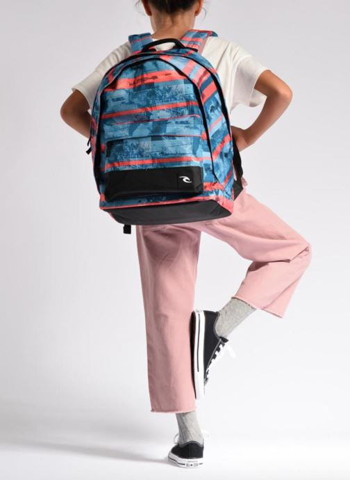 School bags Rip Curl Double dome Ocean Glitch Multicolor view from underneath / model view