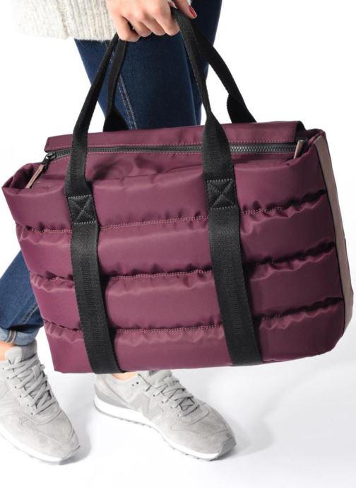 Handtaschen Clarks TASMIN BELLA Cabas lila ansicht von unten / tasche getragen