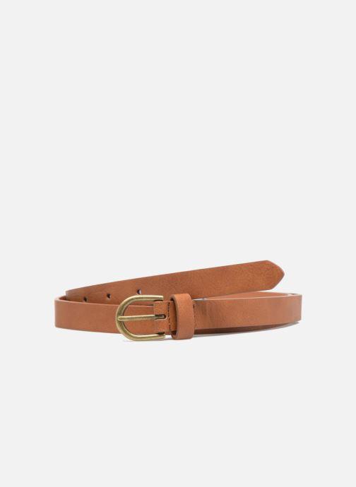 Ceintures Pieces Elegance Slim Leather belt 18mm Marron vue détail/paire