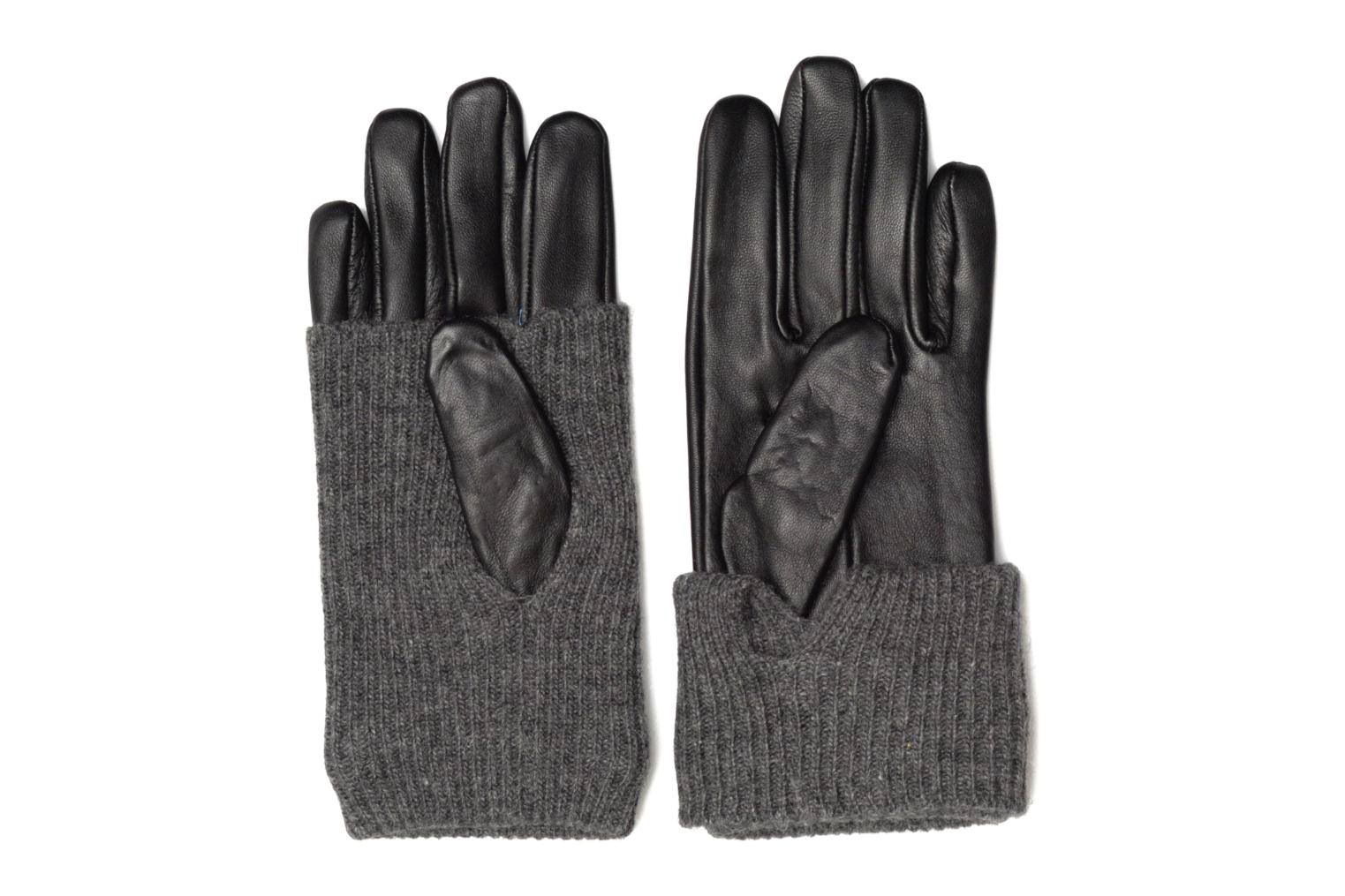 Guantes Pieces Patty Leather Gloves Negro vista del modelo