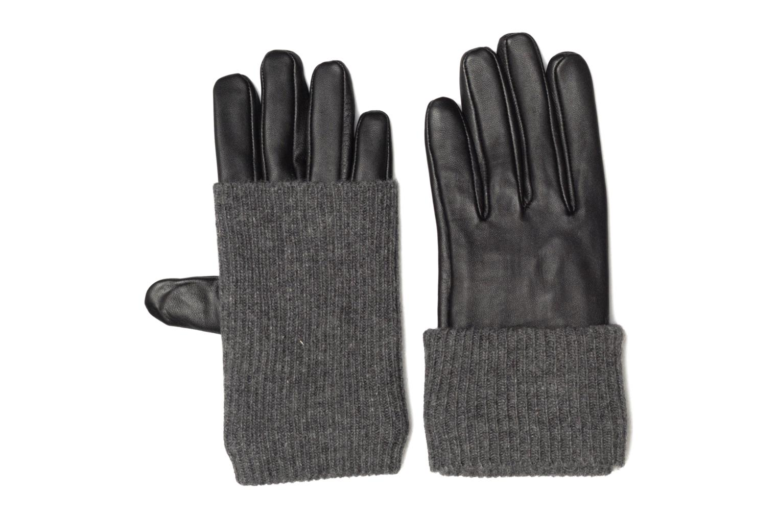 Guantes Pieces Patty Leather Gloves Negro vista de detalle / par