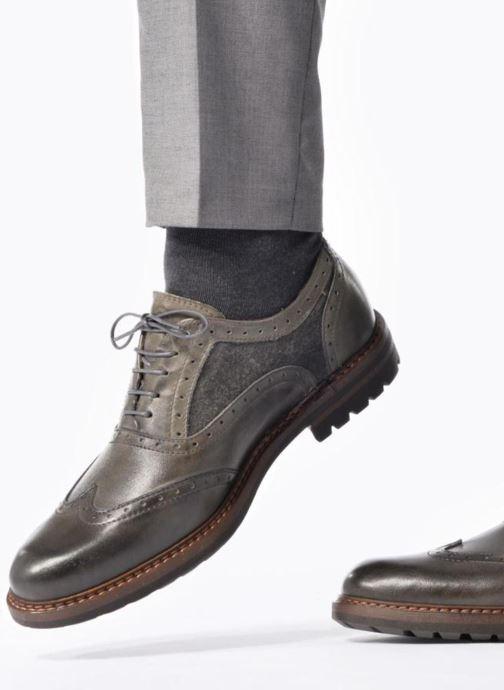 Chaussures à lacets Mr SARENZA Nelaton Vert vue bas / vue portée sac