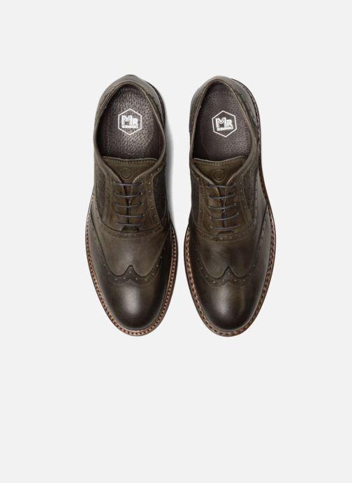 Zapatos con cordones Mr SARENZA Nelaton Verde vista del modelo