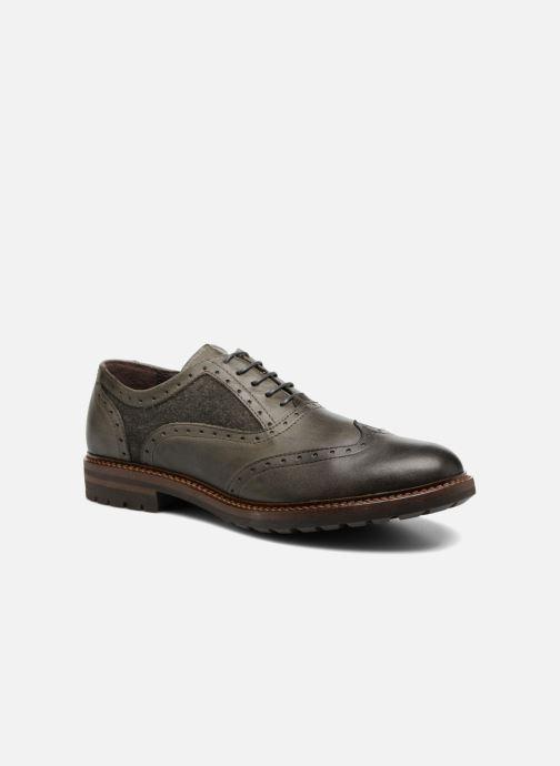 Zapatos con cordones Mr SARENZA Nelaton Verde vista lateral derecha