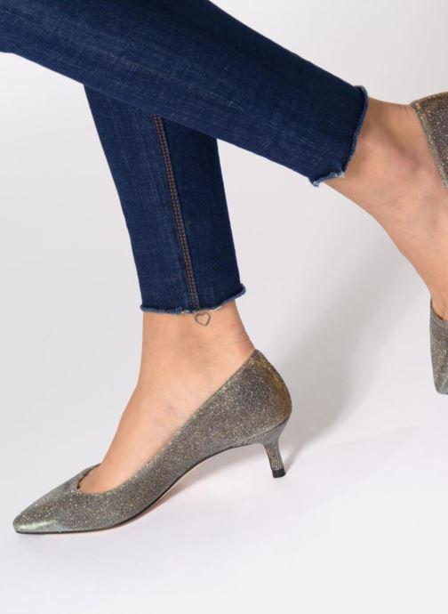 High heels L.K. Bennett Audrey Silver view from underneath / model view