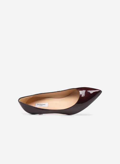 Zapatos de tacón L.K. Bennett Audrey Vino vista lateral izquierda