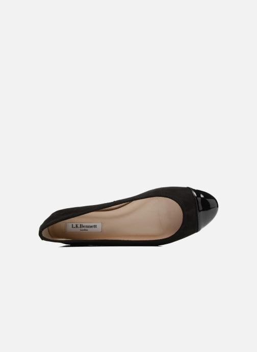 Ballet pumps L.K. Bennett Suzanne Black view from the left
