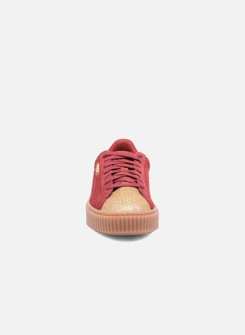 Sneaker Puma PS Suede Platform Glam/Jr Suede Platform Glam weinrot schuhe getragen