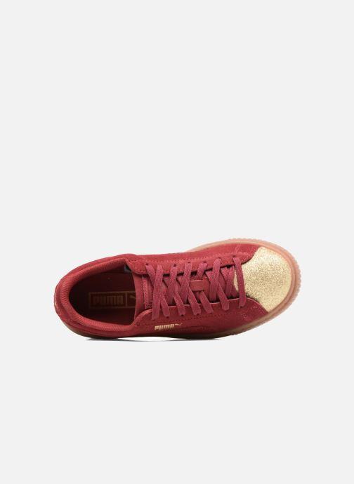 Sneaker Puma PS Suede Platform Glam/Jr Suede Platform Glam weinrot ansicht von links