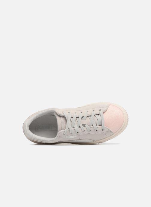 Sneaker Puma PS Suede Platform Glam/Jr Suede Platform Glam grau ansicht von links