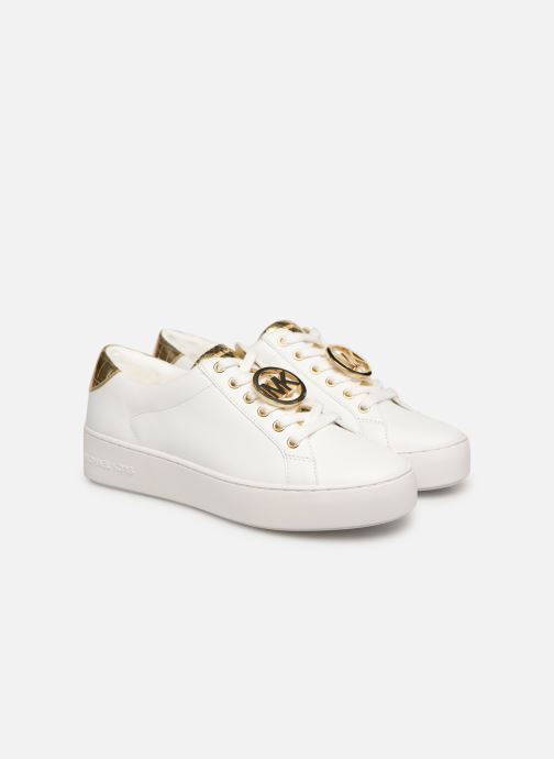 Deportivas Michael Michael Kors Poppy Lace Up Blanco vista 3/4
