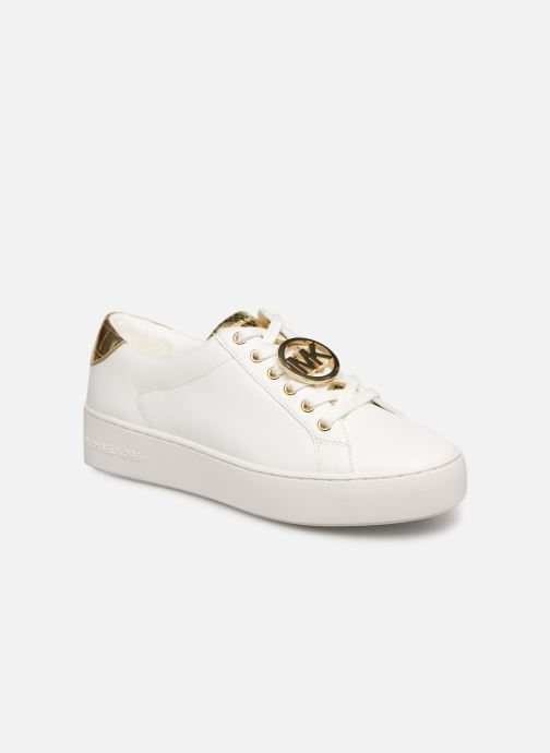 Baskets Michael Michael Kors Poppy Lace Up Blanc vue détail/paire