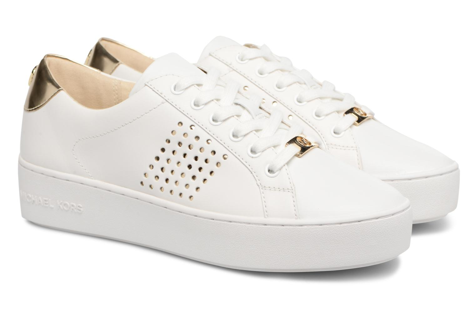 Baskets Michael Michael Kors Poppy Lace Up Blanc vue 3/4