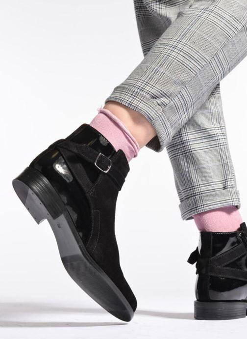 Bottines et boots PintoDiBlu Nina Noir vue bas / vue portée sac