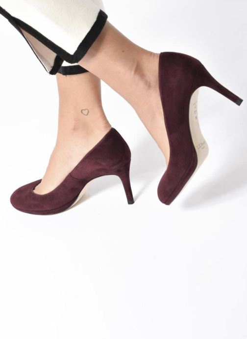 High heels L.K. Bennett New Sybila Burgundy view from underneath / model view