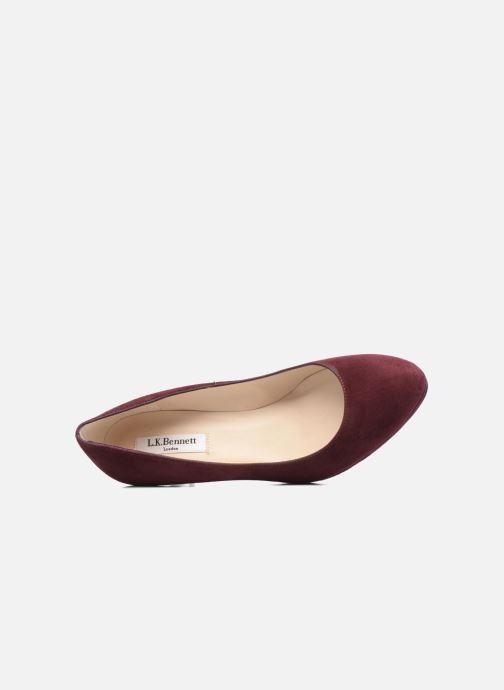 Zapatos de tacón L.K. Bennett New Sybila Vino vista lateral izquierda